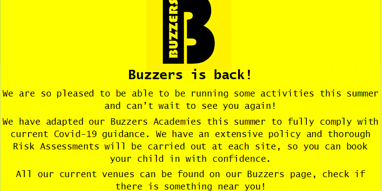 Buzzers Announcement